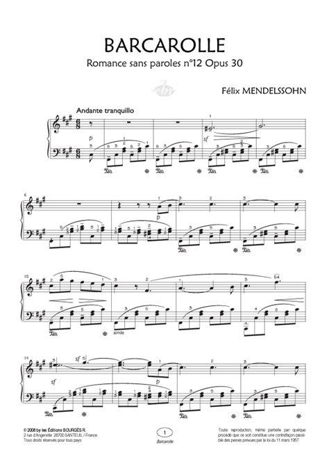 0001125354 romances sans paroles songs without partition piano mendelssohn