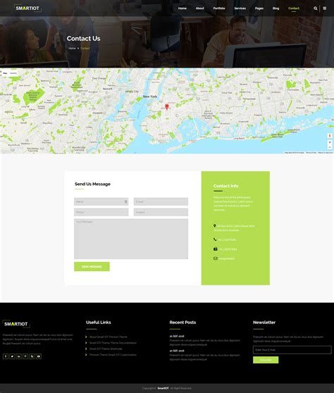 smartiot corporate html5 template by paristhemes
