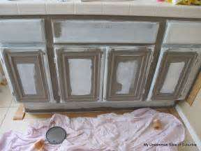 gray painted bathroom cabinets how to paint oak cabinets