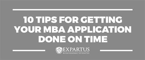 Getting An Mba Without To Take A Statistics Class by 10 Tips For Getting Your Mba Application Done On Time