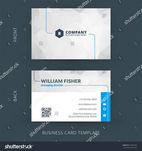 svg business card template vector modern creative clean business card stock vector