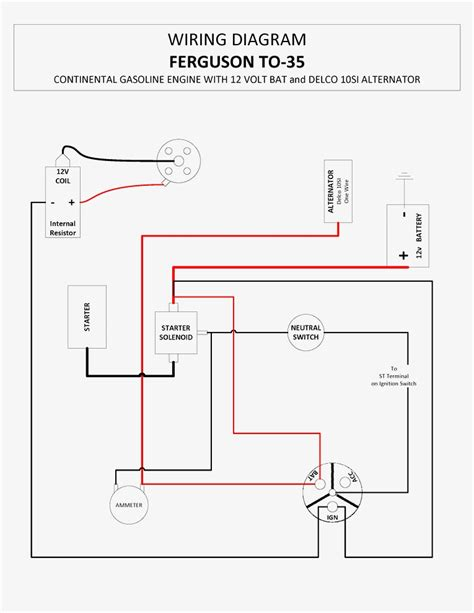 ford 9n wiring schematic 8n ford tractor 12 volt