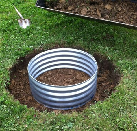 diy steel pit ring how to install a in ground pit ring outdoor living pit ring ring and