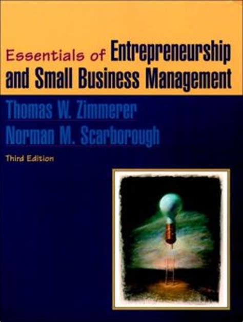 Essentials Of Entrepreneurship And Small Business Management essentials of entrepreneurship and small business