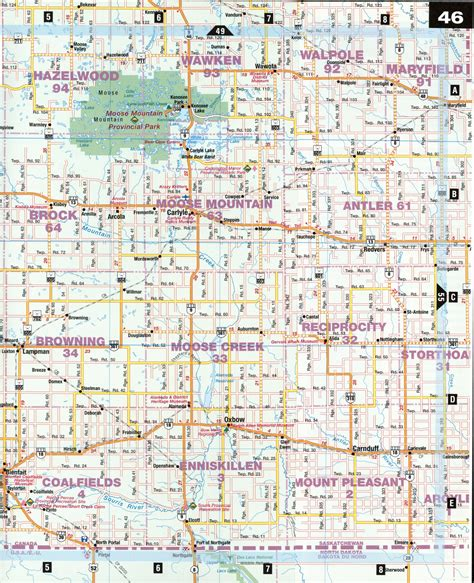 map of saskatchewan canada with cities carlyle