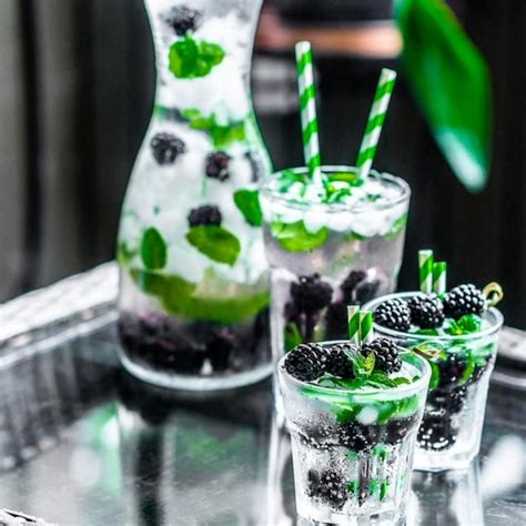 Blackberry Mint Detox Water by Detox Water 50 Best For Burning And Weight Loss