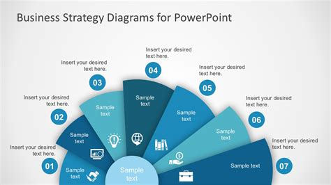 Free Business Strategy Diagram Powerpoint Slidemodel Business Plan Powerpoint Template Free