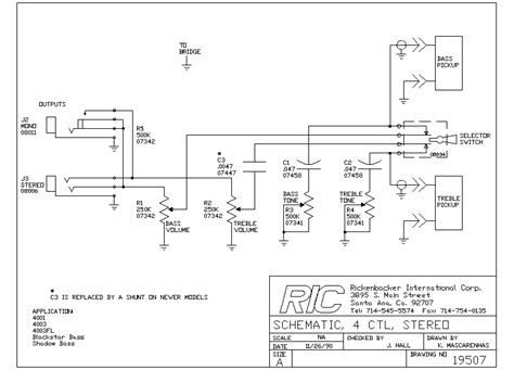 guitar wiring drawings switching system rickenbacker 4