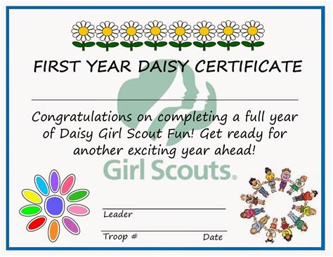 pin girl scout certificate templates on pinterest