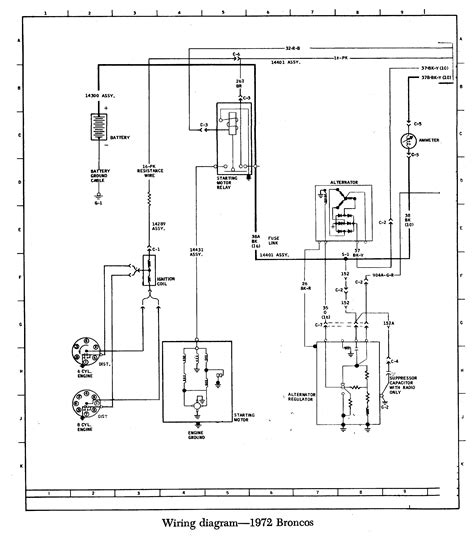 early bronco battery wiring diagram wiring diagrams