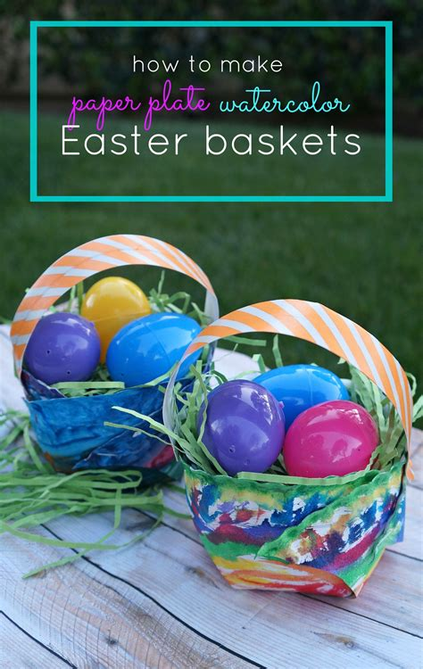 How To Make A Easter Basket Out Of Paper - easter craft for diy paper plate watercolor easter