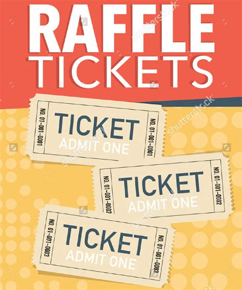 Printable Raffle Ticket Template 18 Free Word Excel Pdf Documents Download Free Premium Raffle Flyer Template Word