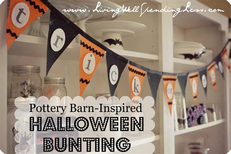 pottery barn inspired pottery barn inspired no sew halloween bunting living