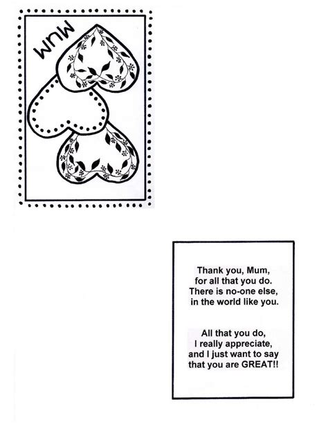 Day Cards Templates free mother s day cards early play templates