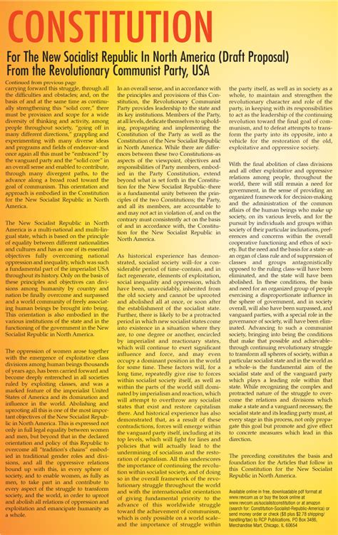full printable us constitution preamble to the constitution for the new socialist