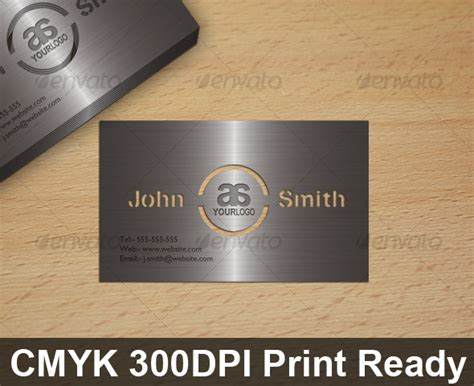 Business Card Cut Out Template by Metal Look Cut Out Card Graphicriver