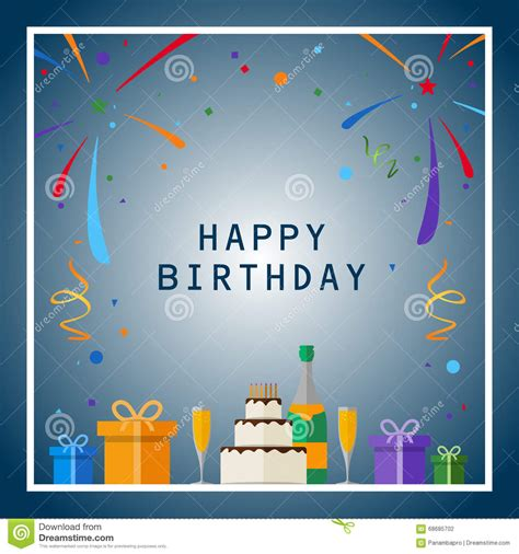 happy birthday design elements happy birthday stock vector image 68685702