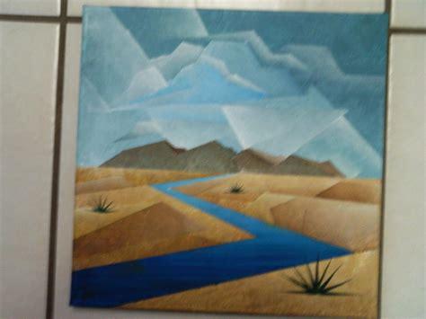 cubist landscape paintings unfinished cubist landscape painting by brandon allebach