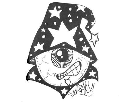 Oblongku T Shirt Graffiti Putih graffitis wizard