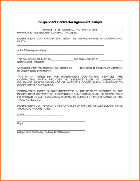 independent contractor agreement sle template simple contractor agreement sales report template