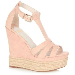 light pink high wedge sandals faith polyvore
