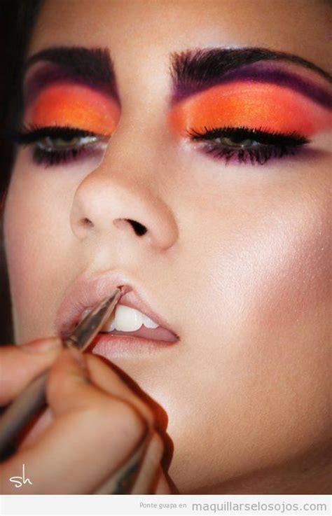 imagenes de ojos naranjas naranja maquillarse los ojos todo sobre el maquillaje