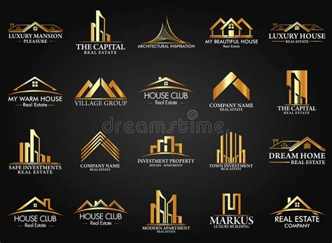 House Building Plans And Prices Set And Group Real Estate Building And Construction Logo