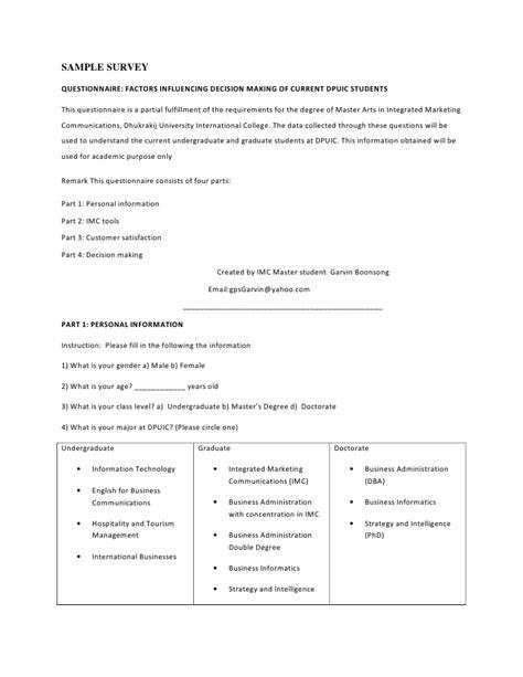 Survey Templates For Market Research Research Survey Template