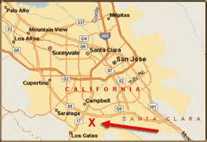 Map Of San Jose Area by California Map San Jose