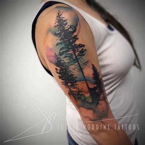 watercolor tree tattoo sleeve best 25 forest sleeve ideas on tree