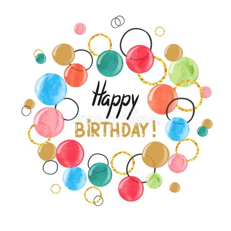 happy birthday card design vector illustration happy birthday card design with colorful watercolor