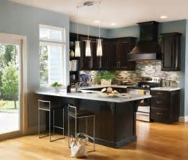 Crown Molding For Kitchen Cabinet Tops a contrasting kitchen pairs espresso cabinetry design