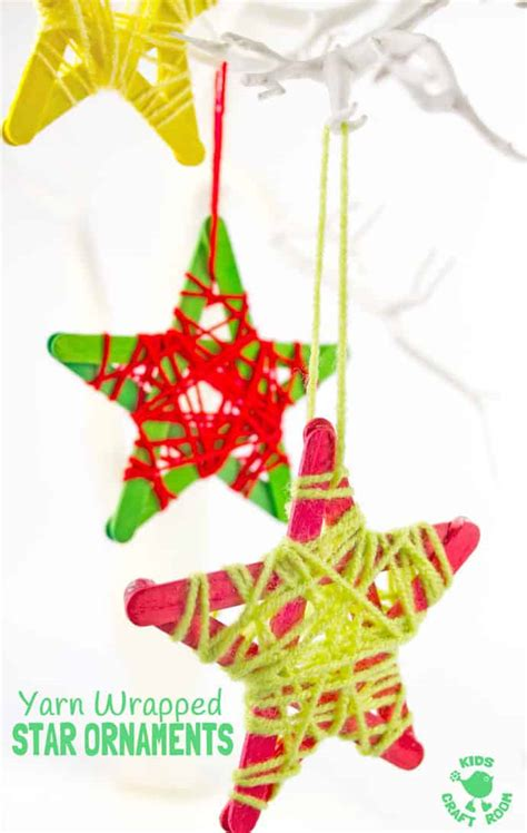 kid friendly christmas tree decorations yarn wrapped ornaments craft room