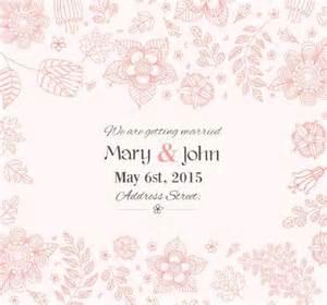 wedding card template free flowers wedding invitation card template vector