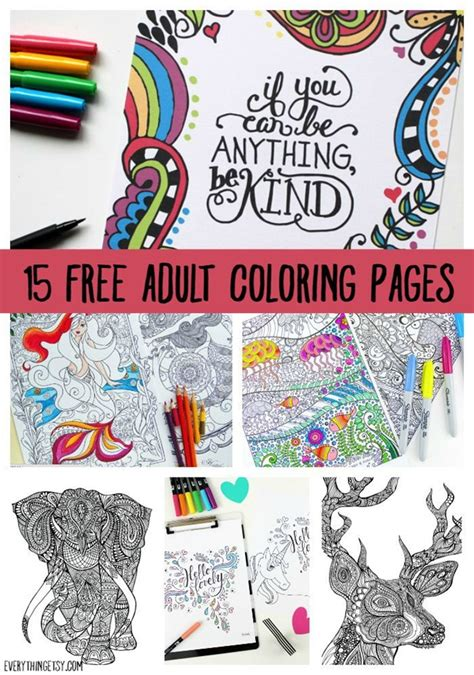 Printable Coloring Pages For Adults 15 Free Designs Coloring Book For Adults Free