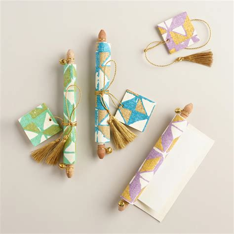 Handmade Scrolls - origami handmade note scrolls set of 3 world market