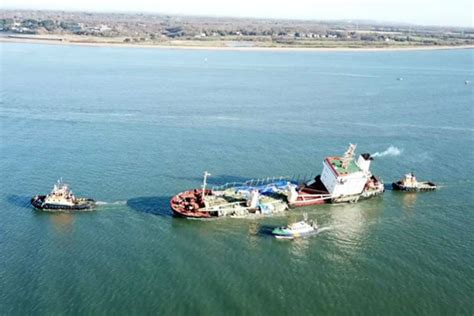 boat covers southton russian cargo ship stricken russian cargo ship righted in