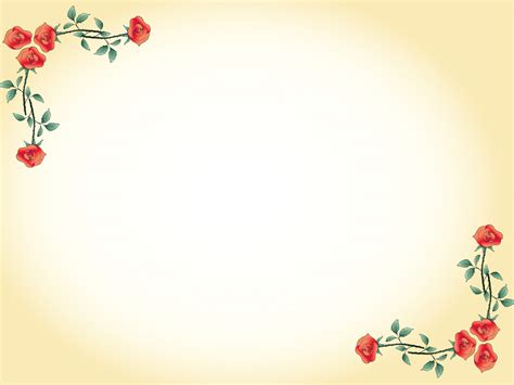Red Flowers Border Powerpoint Templates Border Frames Flowers Powerpoint Template