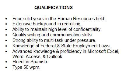 summary of qualifications how to describe yourself on