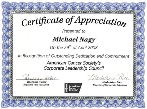 appreciation certificate template word editable certificate of appreciation template exle