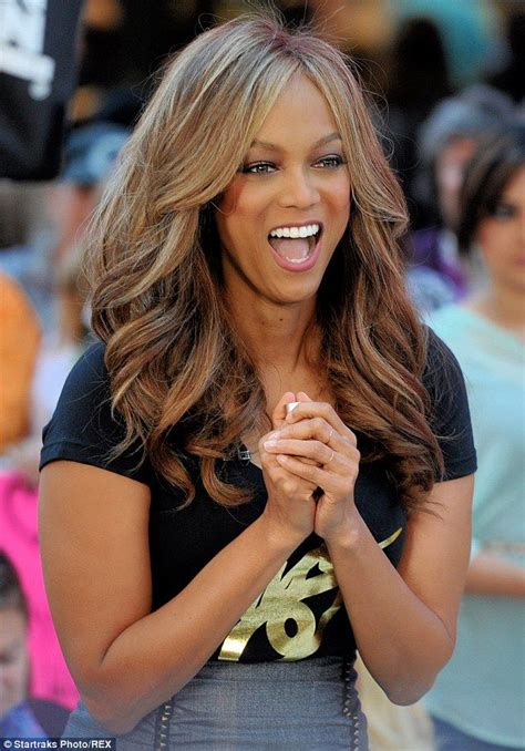 last on the talk show gets new hair cut tyra banks visits talk show to announce new cosmetics line
