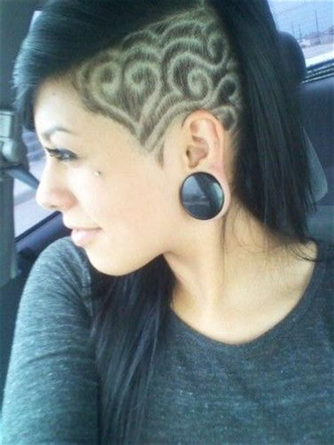 low cut one side of head hair styles 25 best ideas about shaved hair designs on pinterest