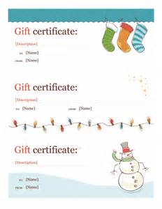 pages gift certificate template certificates office
