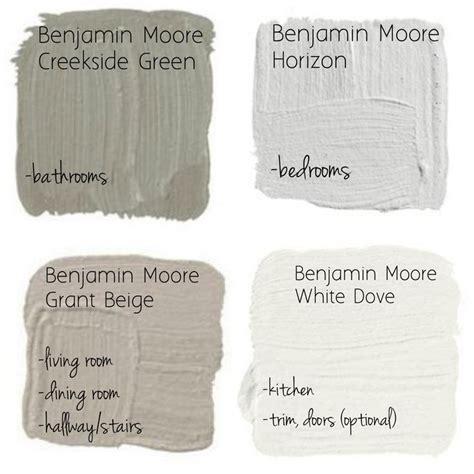 benjamin paint great neutral paint palette by benjamin moore creekside