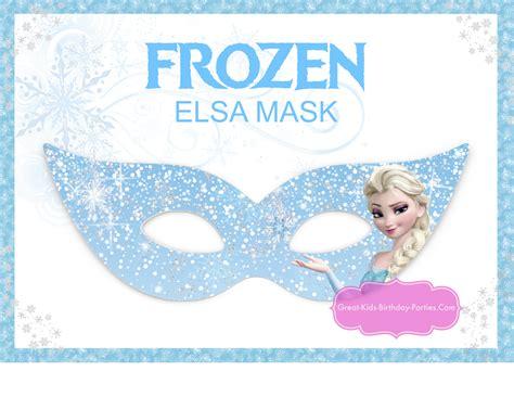 printable mask frozen printable halloween masks