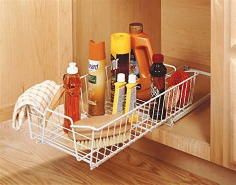 closetmaid under sink storage sliding cabinet organizer basket storage drawer rack