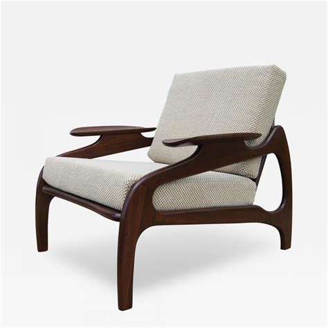 pearsall chair adrian pearsall model 1209c walnut lounge chair by