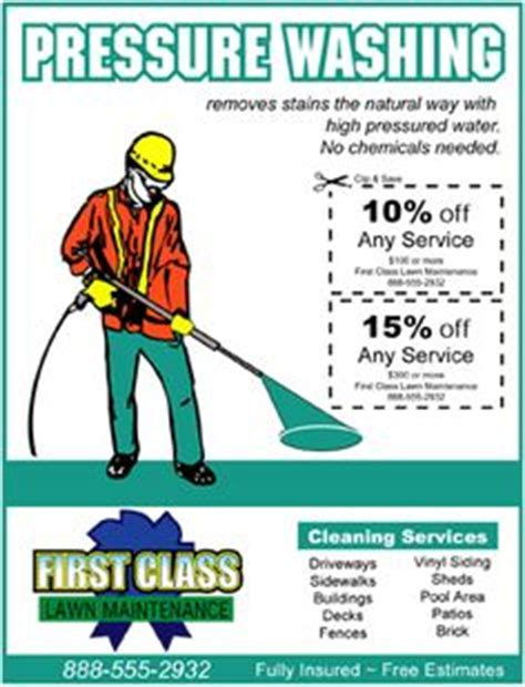 Power Washing Flyer Ideas Alc Marketing Ideas Pinterest Pressure Washing Template