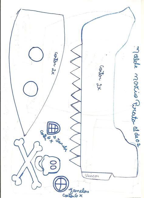 moldes para hacer barcos de cristobal colon molde barco pirata 01 de 02 001 jpg 1163 215 1600 mateo