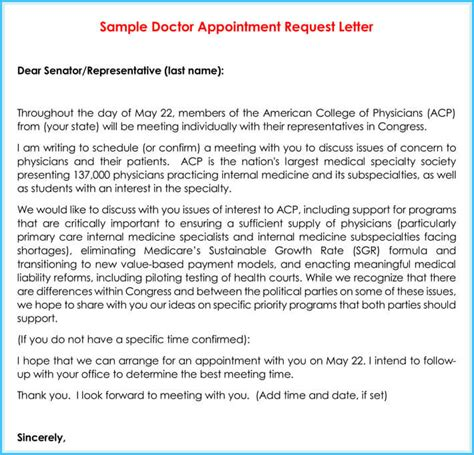 Letter To Patient To Schedule Appointment